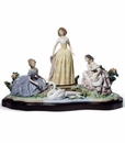 Lladro Daydreaming By The Pond Figurine