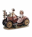 Lladro Young Couple With Car Figurine