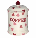 Emma Bridgewater Pink Hearts Coffee Storage Jar