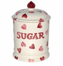Emma Bridgewater Pink Hearts Sugar Storage Jar