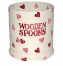 Emma Bridgewater Pink Hearts Wooden Spoon Utensil jar