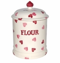 Emma Bridgewater Pink Hearts 2 Pint Flour Storage Jar