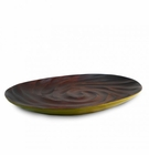 Enrico Mango Wood Avocado Green Spiral Platter