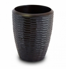 Enrico Mango Wood Chocolate Honeycomb Utensil Vase