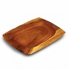 Enrico Natural Acacia Wood Honeycomb Platter