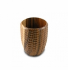 Enrico Natural Acacia Wood Honeycomb Utensil Vase