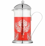 La Cafetiere Red Damask 8 Cup French Press