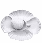 Vietri Incanto Mare White Turtle Antipasti Replacement Lid (Platter Not Included)