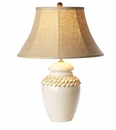 Vietri Tuscan Collection White Button Lamp