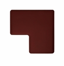 "Wellness Mats Anti-Fatigue Floor Mat 2' Corner Mat Burgundy 90� Corner - 24""W"