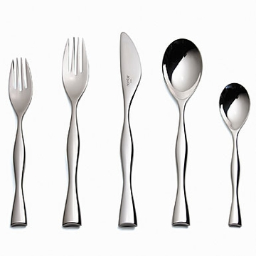 Nambe' Butterfly Five Piece Flatware Place Setting