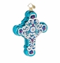 Christopher Radko Winter Frost Cross Ornament