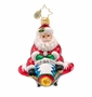 Christopher Radko Jet Set Santa Little Gem Ornament