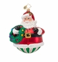 Christopher Radko Holly Jolly Roly Poly Ornament