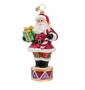 Christopher Radko Plum Drum Santa Ornament