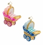 Christopher Radko Bouncing Baby Buggy Ornament