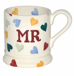 Emma Bridgewater Polka Hearts Mr Mug 1/2 Pint