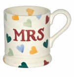 Emma Bridgewater Polka Hearts Mrs Mug 1/2 Pint