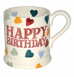 Emma Bridgewater Polka Hearts Happy Birthday 1/2 Pint Mug