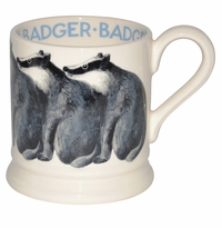 Emma Bridgewater Animals Badger 1/2 Pint Mug