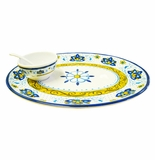 Le Cadeaux Amalfi Chip and Dip 3 Piece Set
