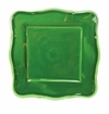 Le Cadeaux Melamine Provence Solid Green 11 in. Square Dinner Plate