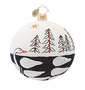 Christopher Radko Swan Solid Glitter Freeblown Ornament