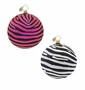 Christopher Radko Zebra Glitter Freeblown Ornament
