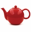 Scarlet Red 42 Oz Round Teapot by Hues & Brews