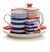 Stripes Tea or Coffee Service for One Set by Hues and Brews
