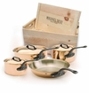 Mauviel M250C 7 Pc Copper Cookware Set W/Crate