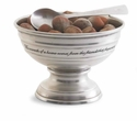 Mud Pie Pewter Pedestal Bowl with Spoon