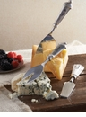 Mud Pie Pewter Cheese Set