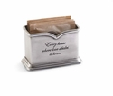 Mud Pie Pewter Sugar Packet Holder