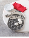 Mud Pie Metal Santa Platter
