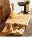 Mud Pie Hidden Utensil Square Cutting Board