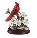 Andrea by Sadek Cardinal with Dogwood Bird Figurine