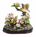 Andrea by Sadek Golden Crowned Kinglet Family Bird Figurine