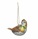 Andrea by Sadek Porcelain Partridge & Pear Ornament