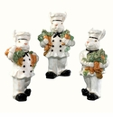 J Willfred Rabbit Chef Figurines Assorted Set of 3