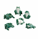 Andrea by Sadek Set of 6 Assorted Mini Shiwan Frogs
