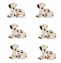 Andrea by Sadek Set of 6 Dalmatian Dogs