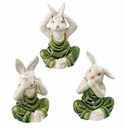 "Andrea by Sadek Set of 3 4.5"" H Assorted No Evil Rabbits"