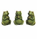 "Andrea by Sadek Set of 3 Praying Frogs 3.75""H"