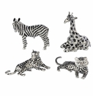 Andrea by Sadek 4 Assorted African Animal Jeweled Box