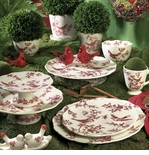 j. willfred by Andrea by Sadek Red Bird Toile Dinnerware