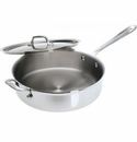 All Clad Stainless Steel 5 Quart Saute with Lid