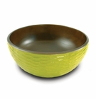"Enrico Mango Salad Bowl, Honeycomb Avocado Green 11"" Diam."