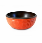 Enrico Mango Wood Bowl Tangerine Orange