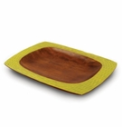 Enrico Mango Serving Platter Honeycomb Avocado Green